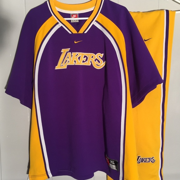 quality design cee05 b90ea VTG 97' Mint Nike LA Lakers Jersey Shirt Pants XL